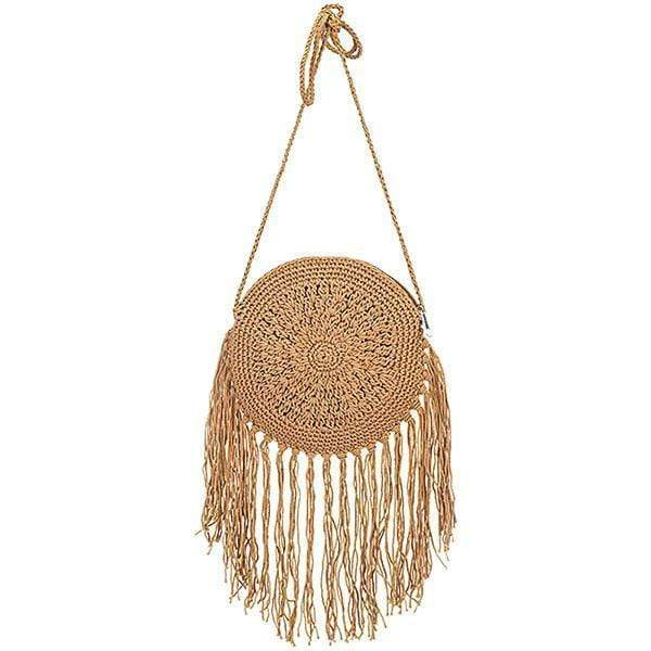 Obangbag Summer Ladies Bohemian Sloping Straw Rattan Mini Small Cute Beach Bag Handbag Purse