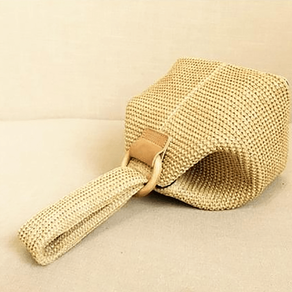 Obangbag Summer Wild Fashion Straw Rattan Braided Square Bucket Bag Party Bag Beach Bag Handbag for Ladies
