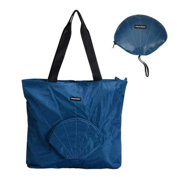 Obangbag Tote / Blue Travel Vacation Shell Shape Foldable Storage Waterproof Casual Handbag Backpack Series