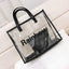 Obangbag Transparent Women Chic Large Capacity Clear Transparent Spring Summer PVC Tote Bag Bag Set