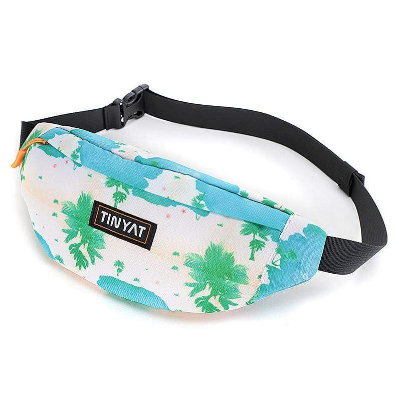 Obangbag Tree Printed Unisex Lightweight Multifunction Casual Sports Outdoor Waterproof Fanny Pack Phone Bag