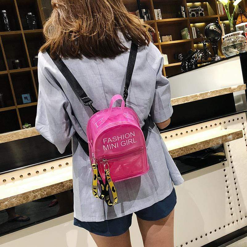 Obangbag Unisex Chic Casual Cute Summer Clear Transparent Plastic Backpack for Children