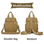 Obangbag Unisex Multi Funciton Retro Canvas Messenger Shoulder Bag Backpack