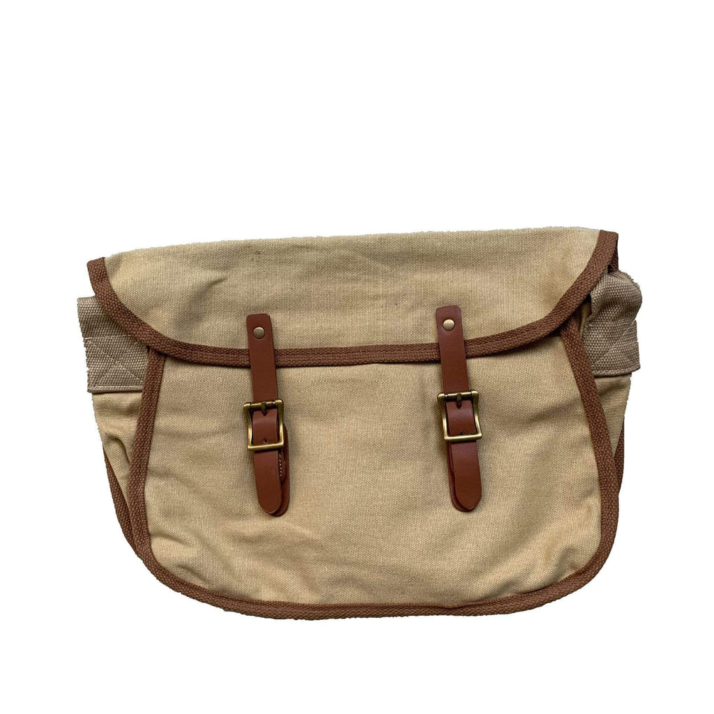 Obangbag Unisex Simple Casual Large Capacity Roomy Canvas Leather Crossbody Bag Messenger Bag