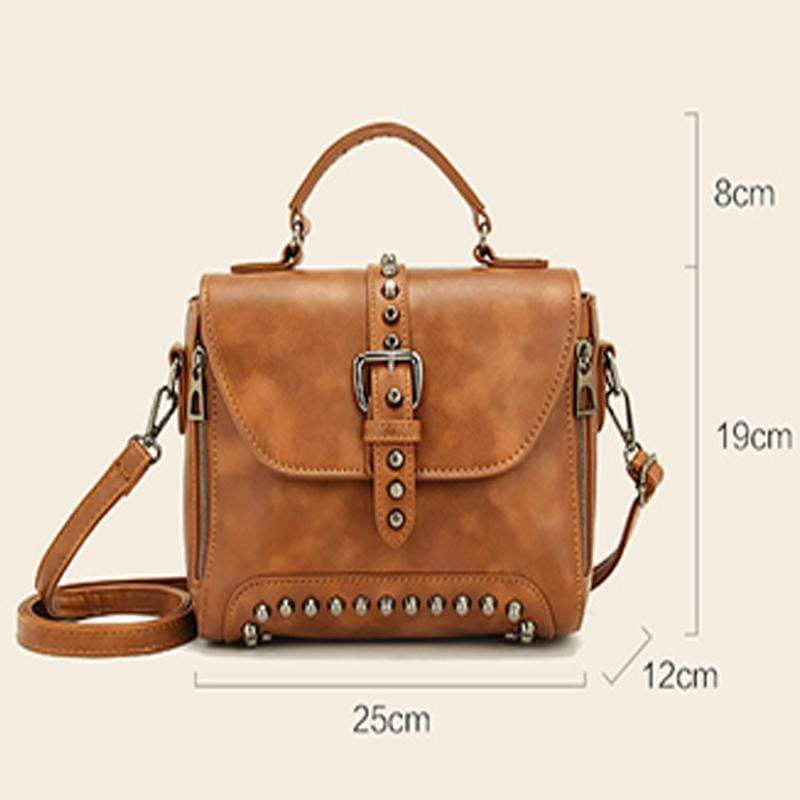 Obangbag Vintage Oil Leather Luxury Handbags Retro Shoulder Bag