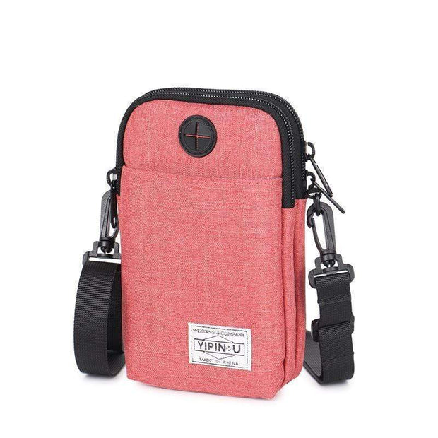 Obangbag Watermelon Red Multifunction Phone Bag Outdoor Leisure Pockets Shoulder Bag Multi Layer Mini Bag