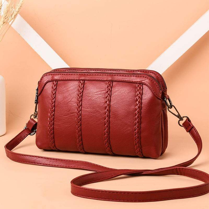 Obangbag Wine Red 1 Women Vintage Cute Mini Roomy Professional Soft Leather Crossbody Bag Shoulder Bag