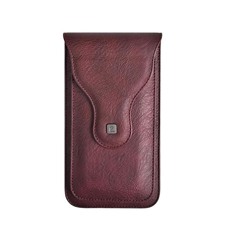 Obangbag Wine Red Men Vintage Universal Belt Clip Magnetic Holster Case Phone Bag