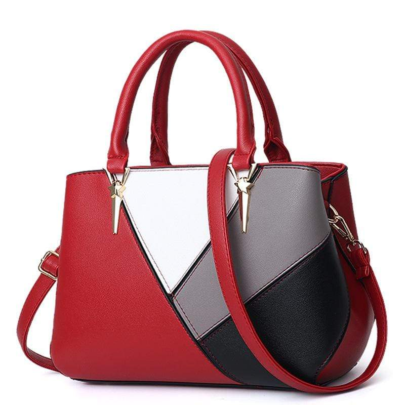 Obangbag Wine Red Women Cute Stylish Professional Multi Pockets PU Leather Handbag Shoulder Bag Crossbudy Bag for Work
