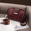 Obangbag Wine Red Women Vintage Elegant Large Capacity Multi Pockets Multifunction Oil Wax Leather Handbag Shoulder Bag Crossbody Bag