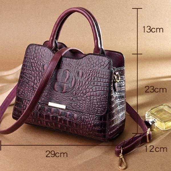 Obangbag Woman European and American fashion crocodile leather large capacity portable briefcase
