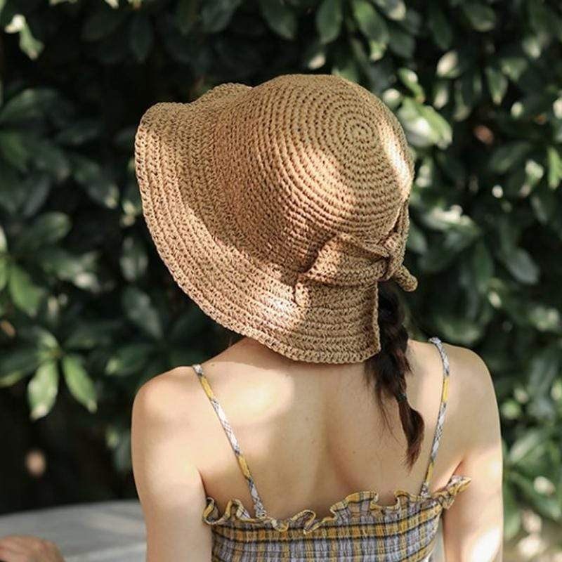 Obangbag Woman straw hat with bow