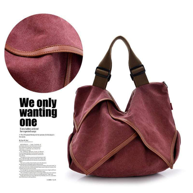Obangbag Women Canvas Travel Outdoor Shoulder Bag