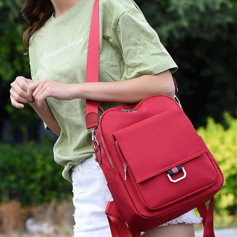 Obangbag Women Casual Large Capacity Multifunction Oxford Backpack Shoulder Bag Handbag for Travel for School