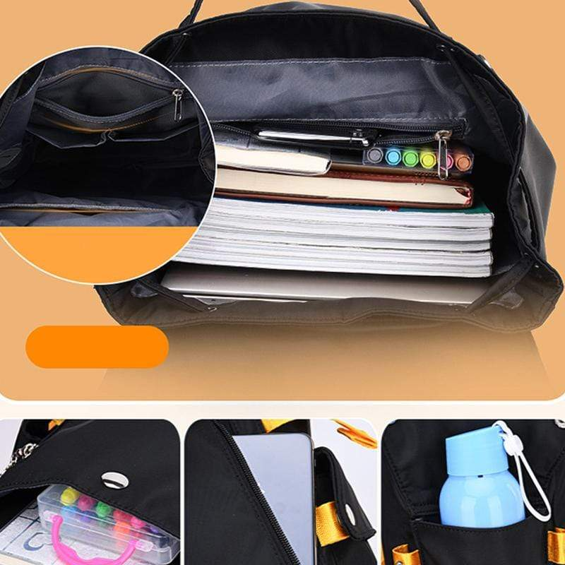 Obangbag Women Casual Large Capacity Waterproof Canvas Backpack Bookbag for School for Travel