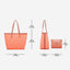 Obangbag Women Chic Big Summer Large Capacity Woven Straw Tote Bag Handbag Bag Set for Travel