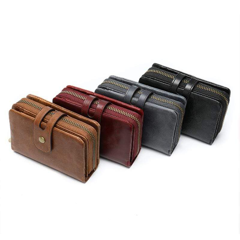 Obangbag Women Chic Cute Large Capacity Multifunction Genuine Leather Wallet