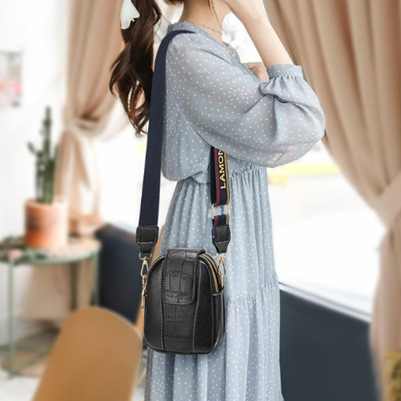 Obangbag Women Chic Cute Mini PU Leather Crossbody Bag Shoulder Bag Phone Bag