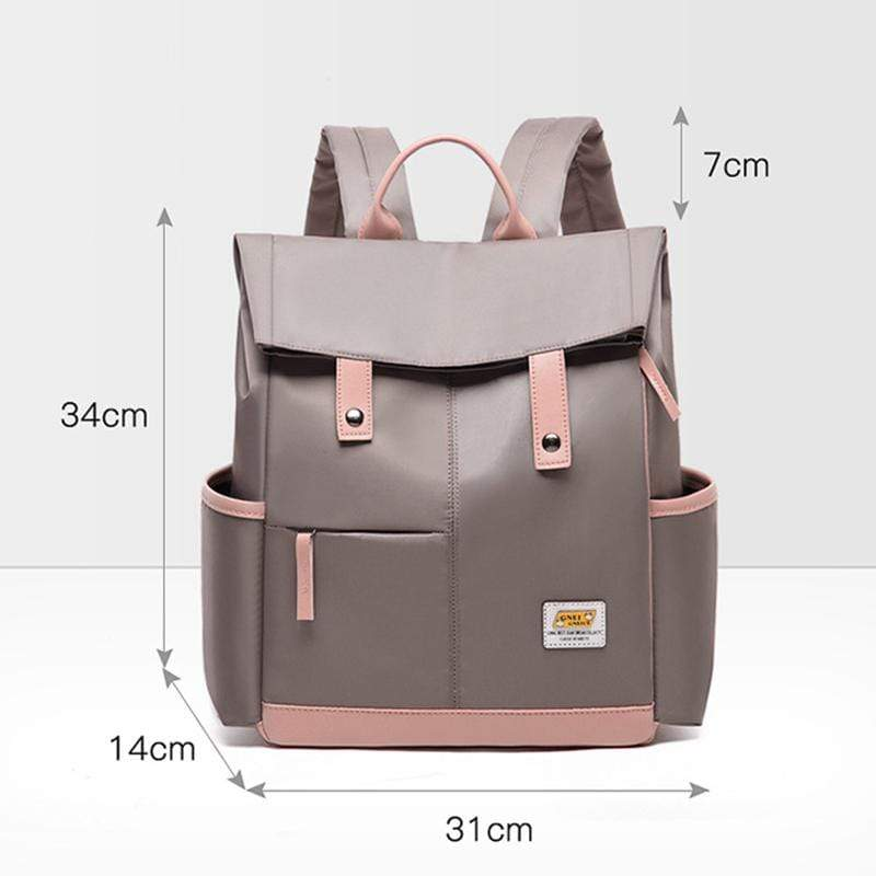 Obangbag Women Chic Foldable Large Capacity Multifunction Oxford Backpack Bookbag for School