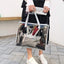 Obangbag Women Chic Large Capacity Clear Transparent Spring Summer PVC Tote Bag Bag Set