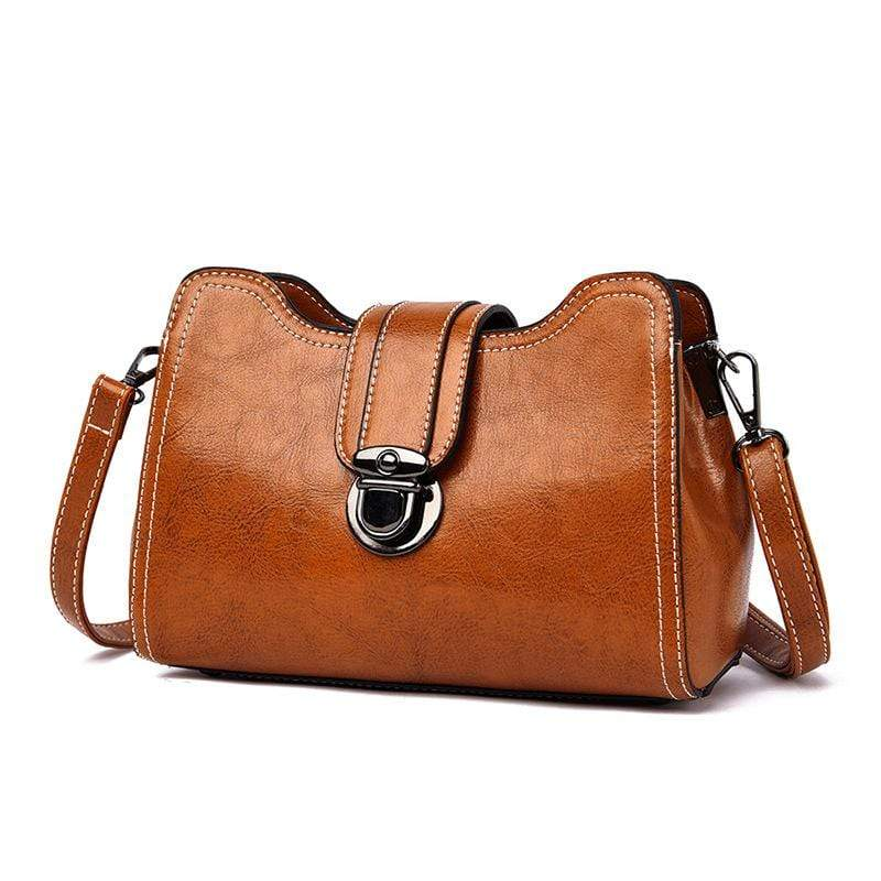 Obangbag Women Chic Mini Anti-theft Roomy Multi Pockets Square Leather Crossbody Bag Shoulder Bag
