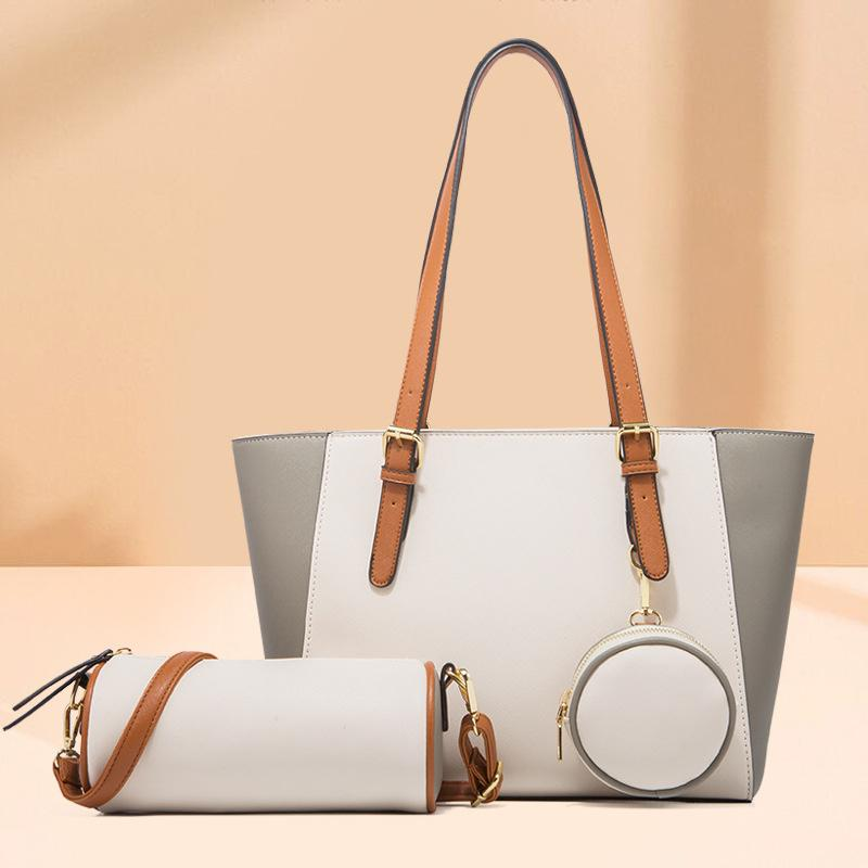 Obangbag Women Chic Multifunction Large Capacity Professional Leather Bag Set Handbag Purse Crossbody Bag for Work