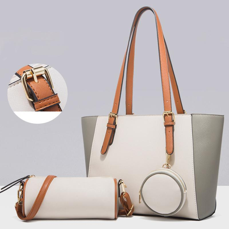 Obangbag Women Chic Multifunction Large Capacity Professional Leather Bag Set Hnadbag Purse Crossbody Bag for Work