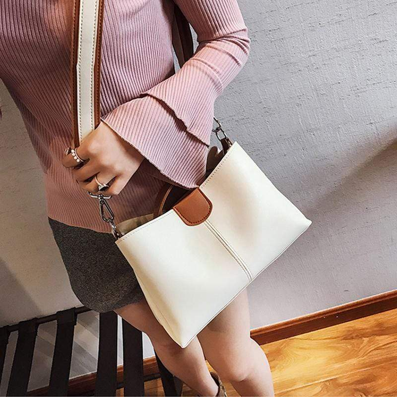 Obangbag Women Chic Professional Large Capacity PU Leather Handbag Crossbody Bag for Work