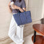 Obangbag Women Chic Roomy Big Elegant Canvas Tote Bag Handbag for Work for Travel
