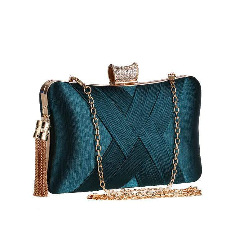 Obangbag Women Chic Stylish Fringed Polyester Evening Purse Clutch Bag