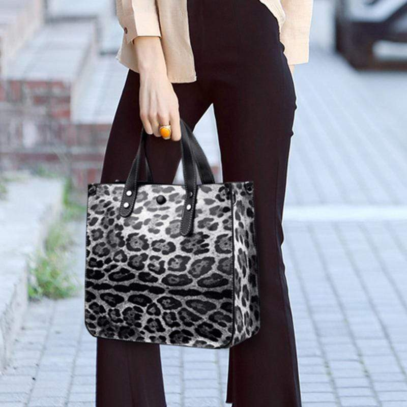 Obangbag Women Chic Vintage Professional Large Capacity Multifunction Leopard Pattern Leather Bag Set Purse Crossbody Bag