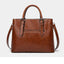 Obangbag Women Chic Vintage Retro Roomy Professional Oil Wax Leather Handbag Shoulder Bag Crossbody Bag