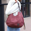 Obangbag Women Chic Vintage Roomy Multi Pockets Canvas Handbag Shoulder Bag