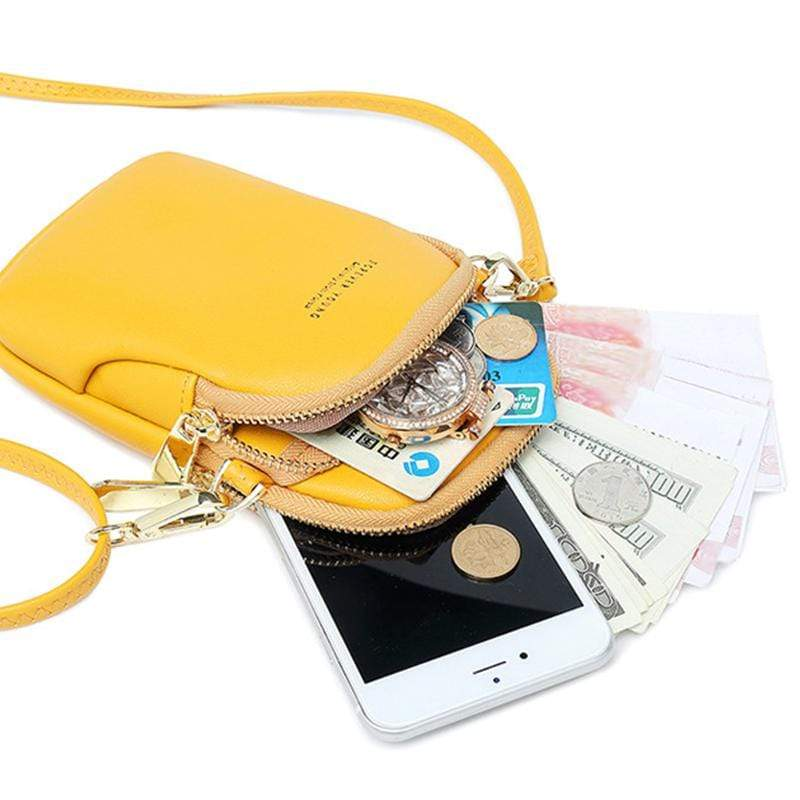 Obangbag Women Cute Chic Roomy Lightweight Portable Multifunction Leather Phone Bag Crossbody Bag