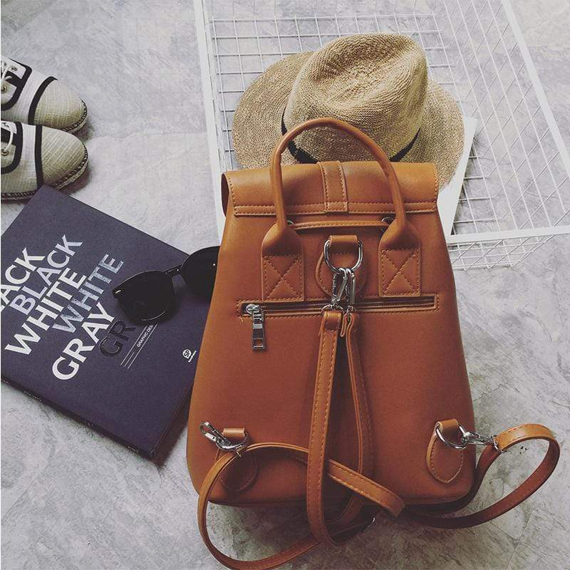 Obangbag Women Cute Fashion Casual Roomy Anti-theft PU Leather Backpack Bookbag for School