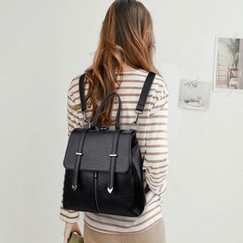 Obangbag Women Designer Travel Work Large Capacity Solid Work Backpack