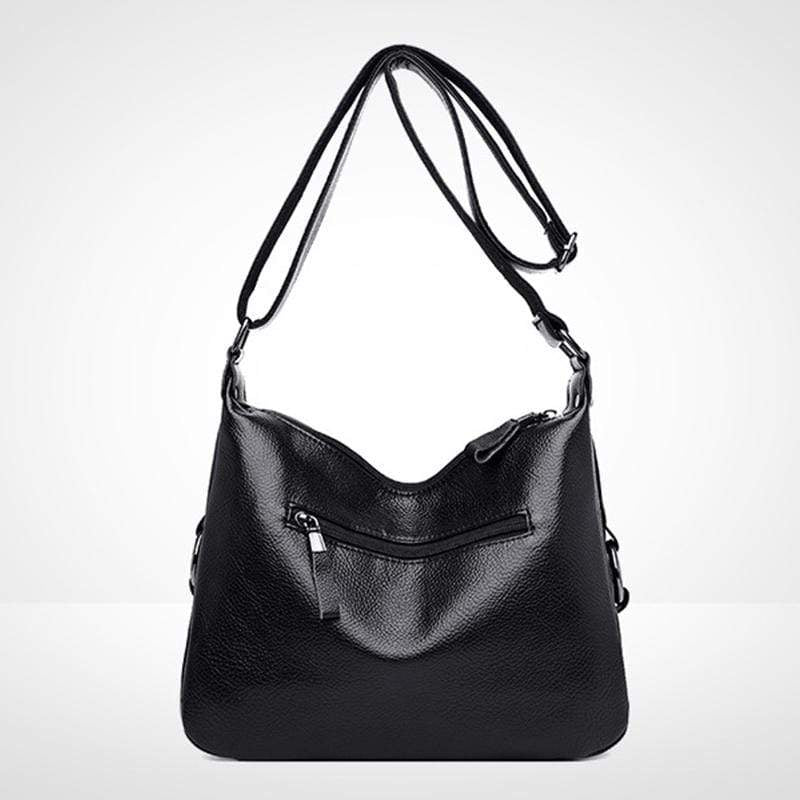 Obangbag Women Elegant Stylish Large Capacity Soft Leather Shoulder Bag Crossbody Bag for Work