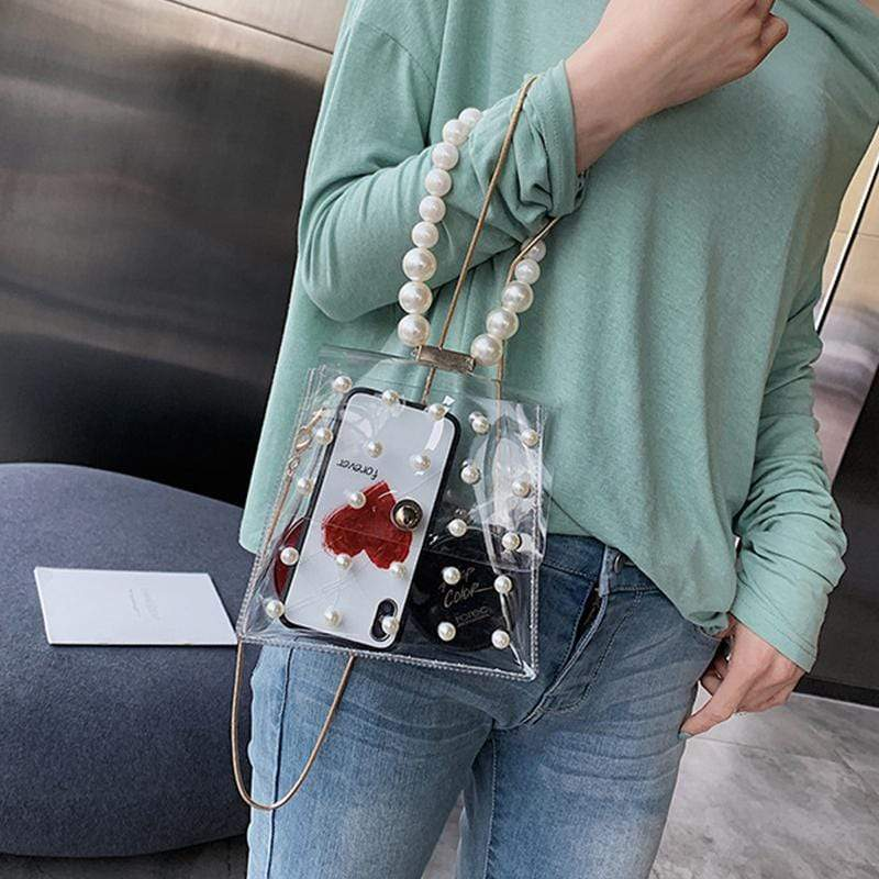 Obangbag Women Fashion Cute Summer designer Transparent Plastic  Clear Hangbag Crossbody Bag