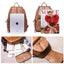 Obangbag Women Fashion Large Capacity Roomy Multi Pockets Soft Leather Backpack for School