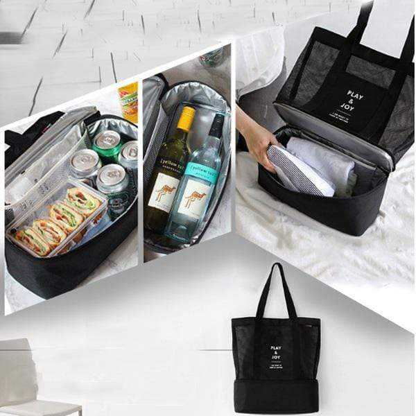 Obangbag Women Fashion Outdoor Multifunction Roomy Sports Picnic Nylon Storage Bag Shoulder Bag