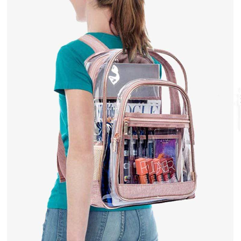 Obangbag Women Fashion Roomy Big Clear Transparent Plastic PVC Backpack Bookbag for Work for School