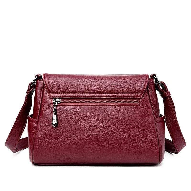 Obangbag Women Genuine Leather Soft Shell Female Bag Small Bag Envelope Bag Shoulder Bag