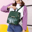 Obangbag Women Girls Cute Roomy Crocodile Pattern PU Leather Backpack Bookbag for School