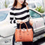 Obangbag Women Large Capacity Elegant Crocodile Skin Pattern PU Leather Handbag