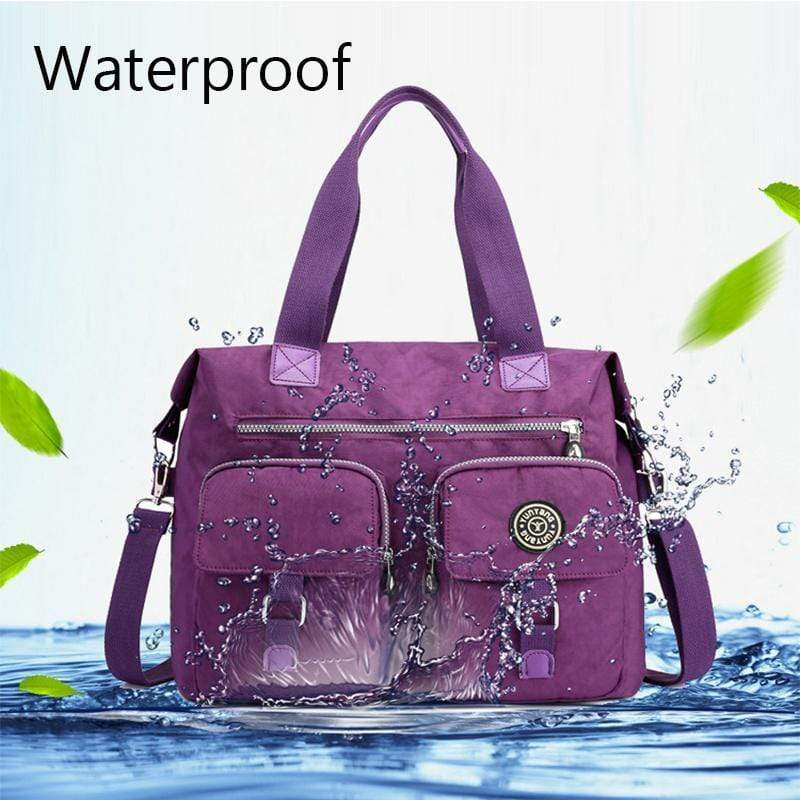 Obangbag Women Large Capacity Travel Handbag Anti Splashing Water Ladies Shoulder Bag