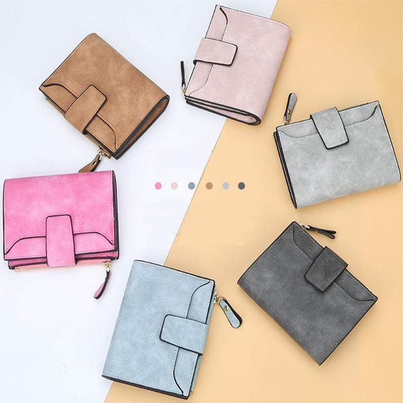 Obangbag Women Leather Wallets Cards Holders Coin Pocket Purse