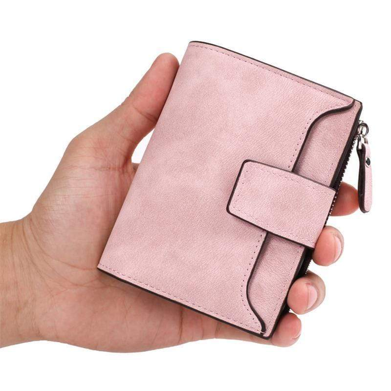 Women Leather Wallets Cards Holders Coin Pocket Purse-Obangbag
