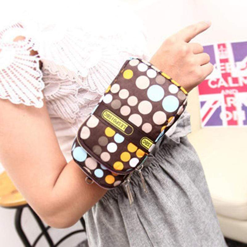 Obangbag Women Mini Cute Colorful Multi Pockets Oxford Clutch Bag Shoulder Bag