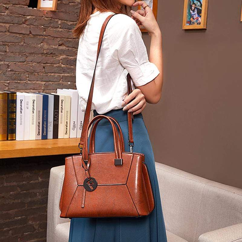 Obangbag Women Mini Retro Daily Multifunction Genuine Leather Shoulder Bag Crossbody Bag