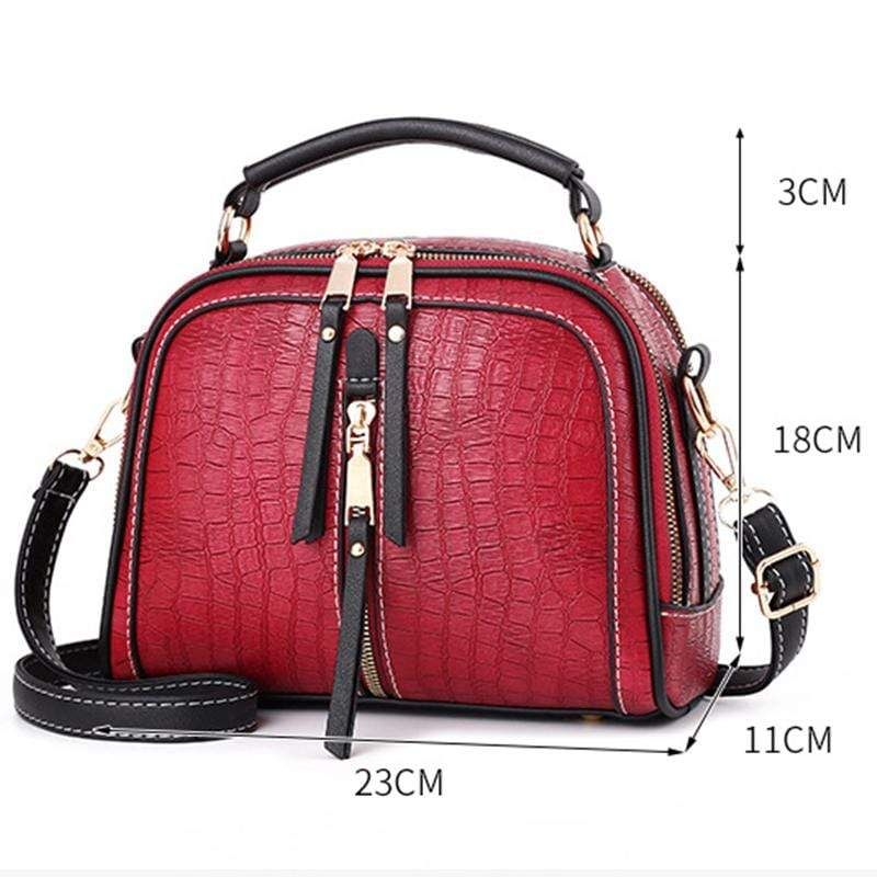 Obangbag Women Mini Vintage Daily Lightweight Roomy Leather Crossbody Bag Handbag Shoulder Bag
